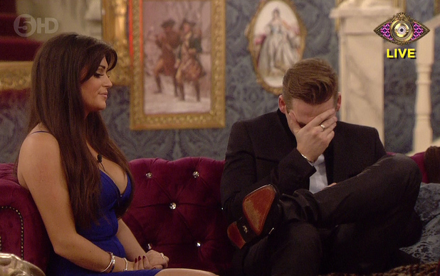 Channel 5's Celebrity Big Brother housemates - January 2014 Lee Ryan breaks down next to Casey Batchelor