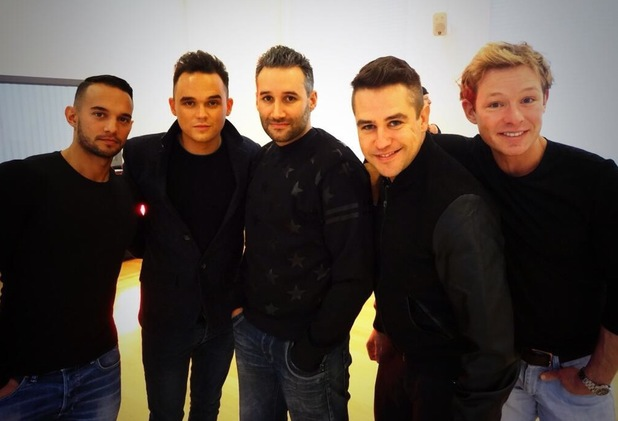 The Big Reunion's new boyband 5th Story pictured for the first time - 6 January 2014