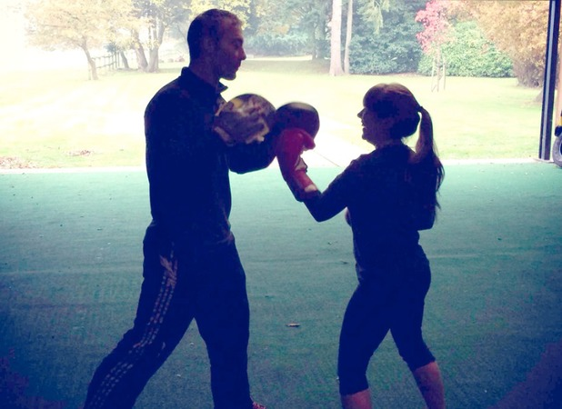 Sarah and Andy boxing