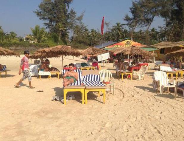 Made In Chelsea's Alex Mytton and Binky Felstead on romantic holiday to Goa, India - January 2014 Alex on the beach.