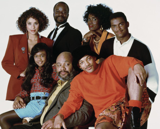 The Fresh Prince of Bel-Air - NBC. 1990 - 1996. Cast picture of Will Smith, James Avery, Alfonso Ribeiro
