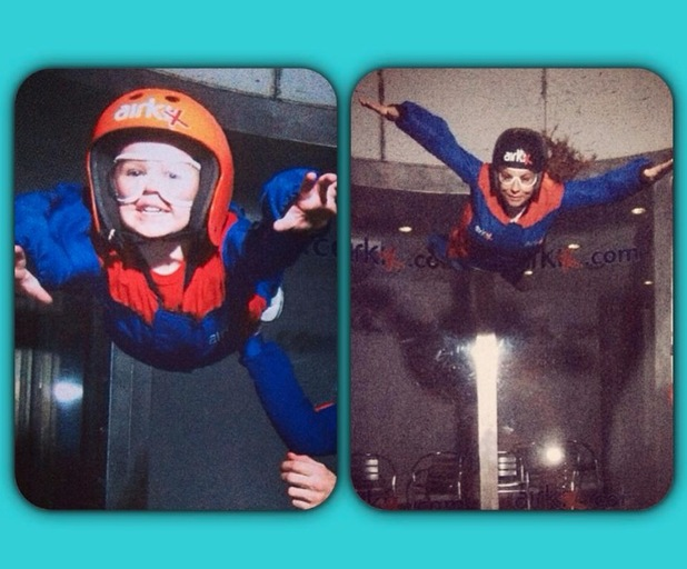 Coleen Rooney and her son Kai go indoor skydiving - 7 January 2014