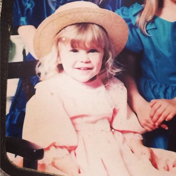 Jessie J posts childhood photo to Instagram (6 January).