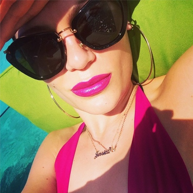 Jessie J posts a picture to Instagram while sunbathing on holiday - 6 January 2014
