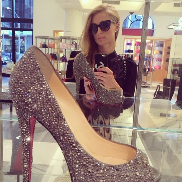 Paris Hilton goes shopping in Barneys of New York in Los Angeles - 9 January 2014