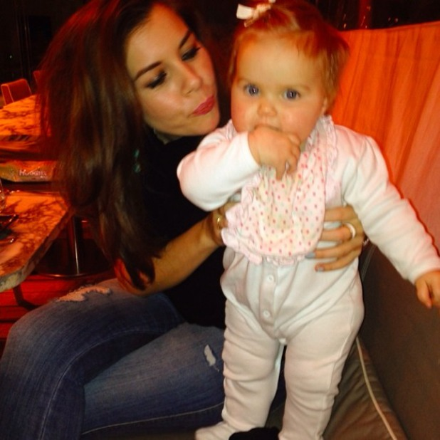 Imogen Thomas shares cute picture of her daughter Ariana, 11 January 2014