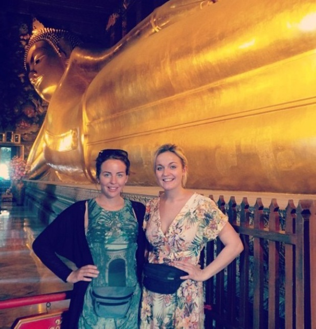 Lydia Bright and sister Georgia go travelling in Bangkok - January 2014