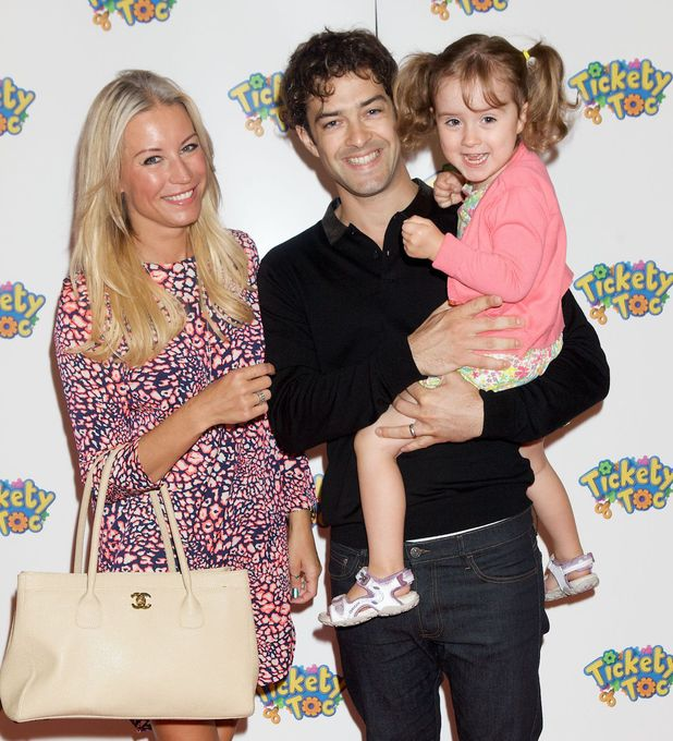 Tickey Toc toy launch at Hamleys, London, Britain - 21 Jul 2013 Denise Van Outen, Lee Mead and their daughter Betsy Mead