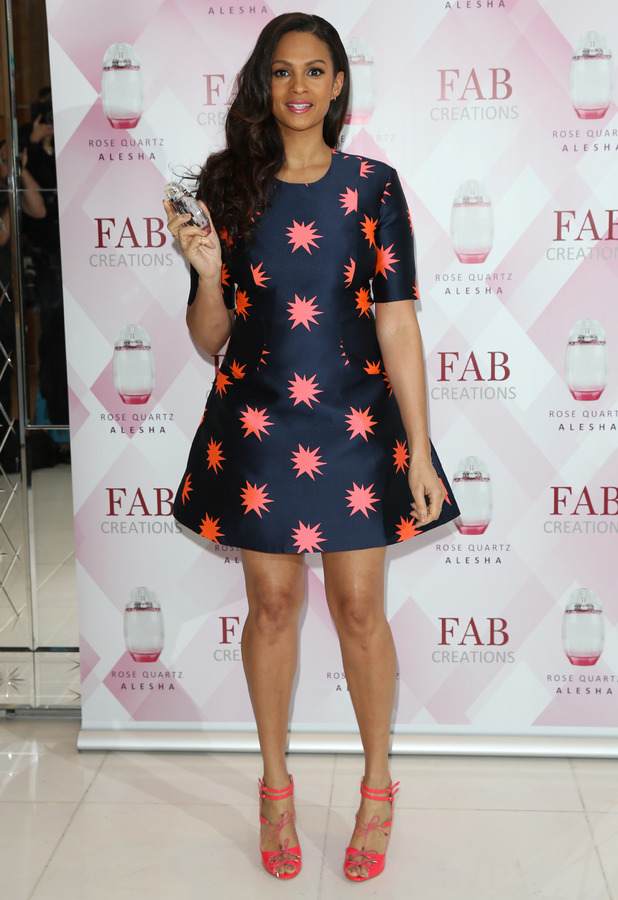 Alesha Dixon launches her first fragrance 'Alesha Rose Quartz' at The Studios, St Martins Lane Hotel, London, 8 January 2014