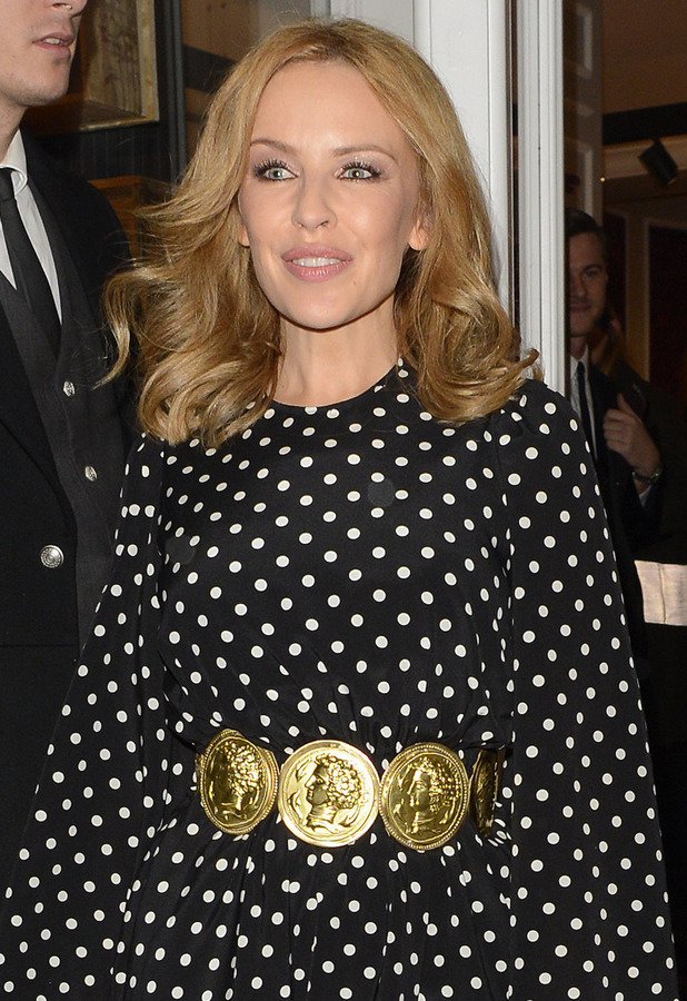 Kylie Minogue - Dolce & Gabbana London Collections: Men event at the Dolce & Gabbana New Bond Street store, 5 January 2014