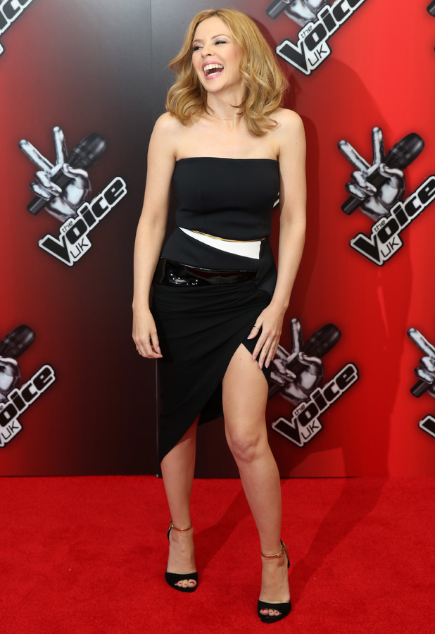 Kylie Minogue at The Voice UK red carpet launch in London - 6 January 2014