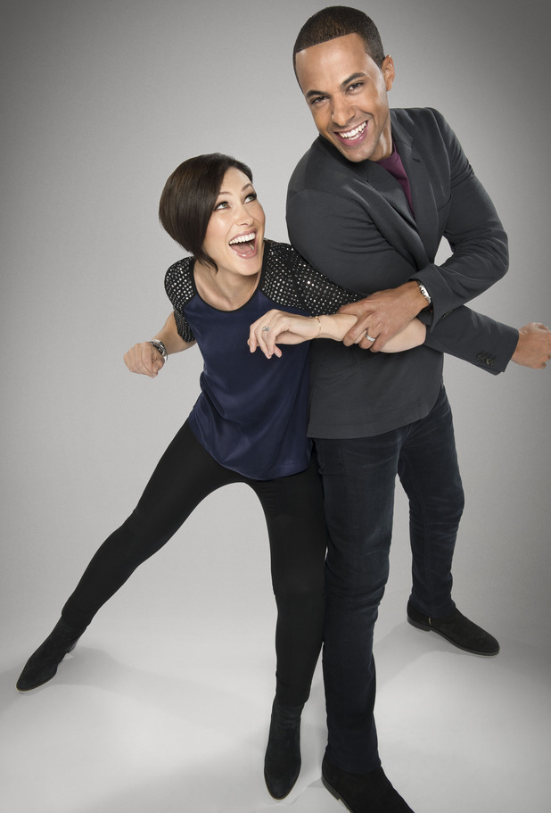 The Voice UK presenters Emma Willis and Marvin Humes