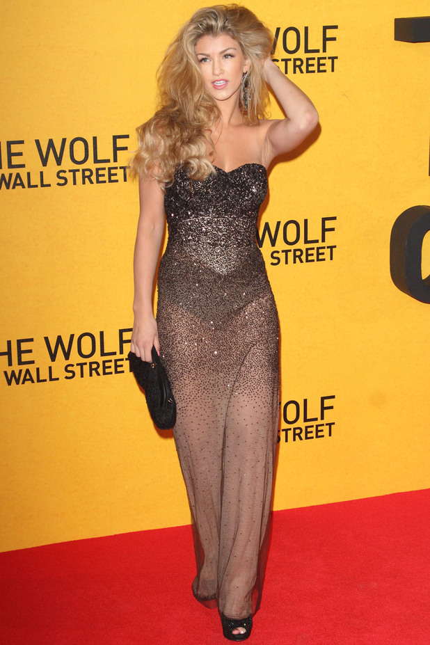 Amy Willerton attends The Wolf of Wall Street UK Premiere at the Odeon Leicester Square, London. 9 January 2014