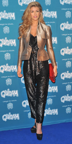 Amy Willerton, Cirque du Soleil 30th anniversary performance of Quidam held at the Royal Albert Hall - Arrivals, 7 January 2013