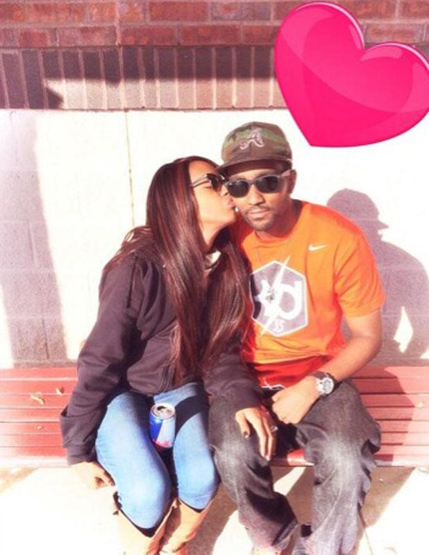 Bobbi Kristina Brown and husband Nick Gordon, Twitter picture dated January 2014