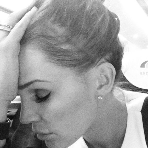 Danielle Lloyd shares picture of herself on the train falling asleep after watching Cirque du Soleil 30th anniversary performance of Quidam held at the Royal Albert Hall - Arrivals, 7 January 2014