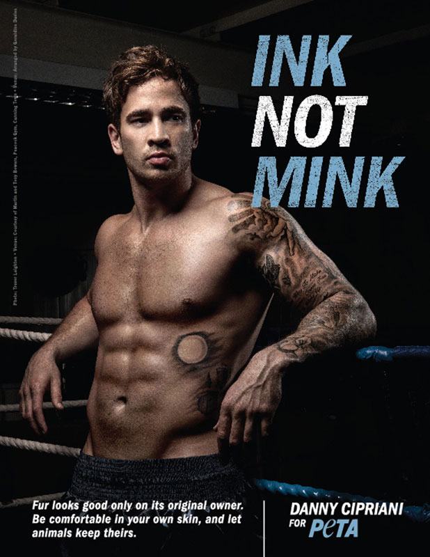 Danny Cipriani is the star of a new advert campaign for PETA, Britain - 01 Jan 2014