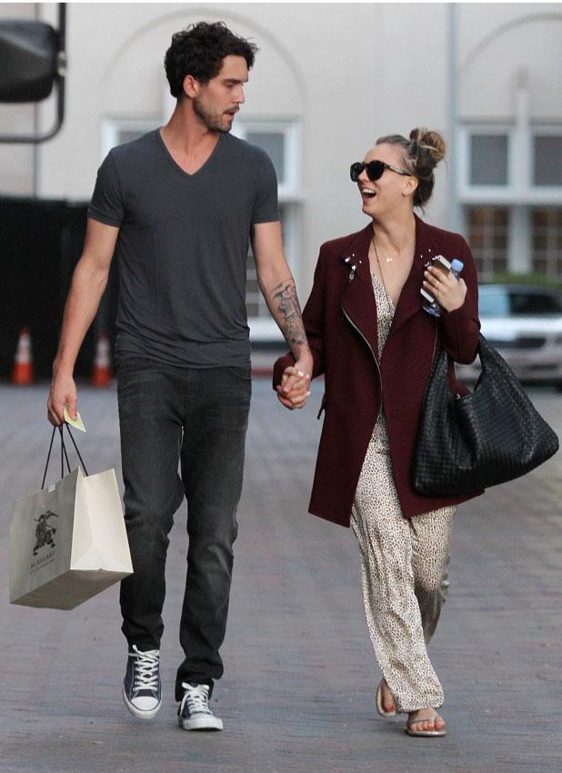 Kaley Cuoco and husband Ryan Sweeting shopping at Barneys New York 9 Jan 2014