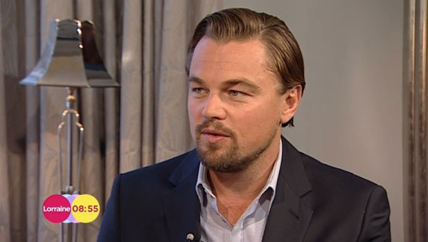 Leonardo DiCaprio appearing on Lorraine to talk about Wolf of Wall Street, 10 January 2014