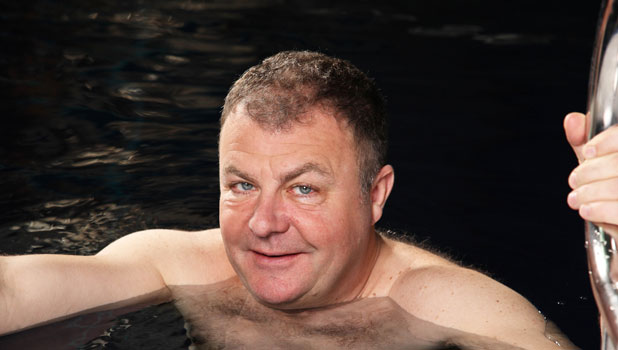 Paul Ross on the second heat of Splash, publicity picture 2014