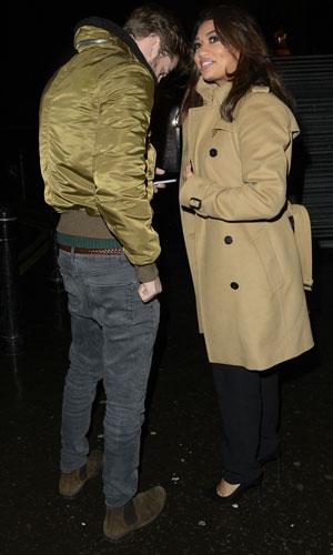 Vanessa White and boyfriend Gary Salter leave Cirque du Soleil: Quidam opening night, Royal Albert Hall, London, 7 January 2013