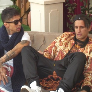 Celebrity Big Brother - Ollie Locke dresses up as Dappy in the house. (14 January 2014).