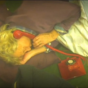 Lionel Blair picks up the phone in the 'most annoying room in the world' in Celebrity Big Brother.