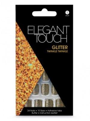 Elegant Touch Glitter Twinkle Twinkle Press-On Nails