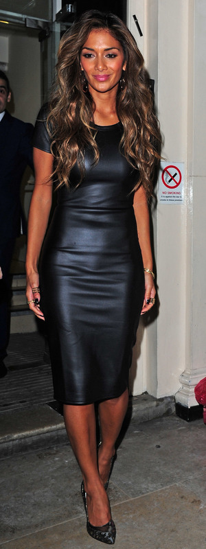 Nicole Scherzinger leaves The Arts Club in Mayfair, London - 16 October 2013