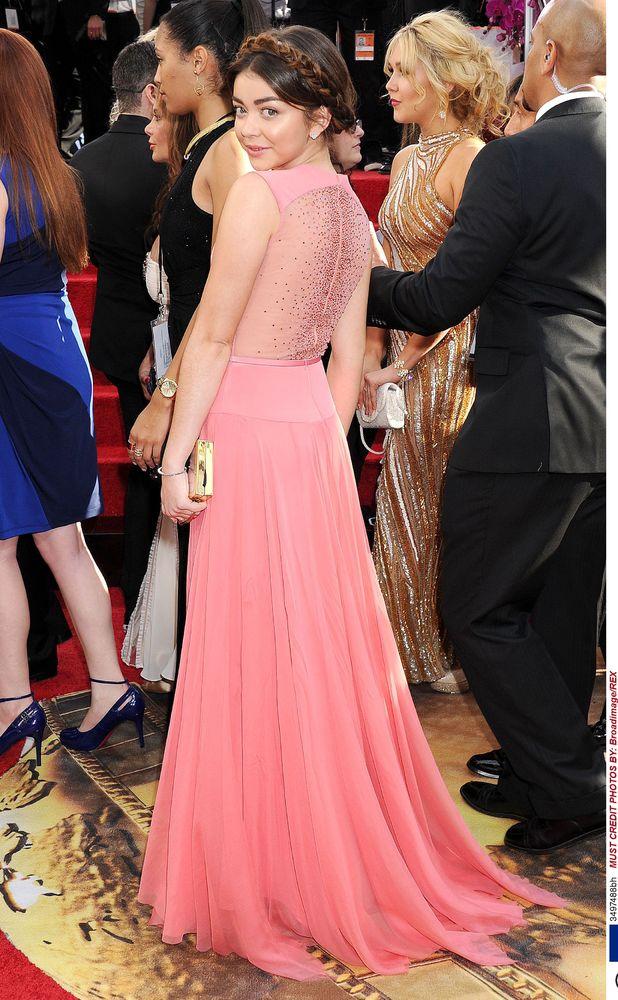 Sarah Hyland, 71st Annual Golden Globe Awards, Arrivals, Los Angeles, America - 12 Jan 2014