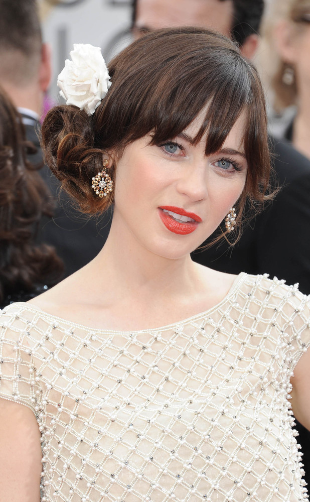 Zooey Deschanel, 71st Annual Golden Globe Awards, Arrivals, Los Angeles, America - 12 Jan 2014