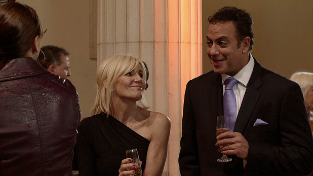 Corrie, Stella and Dev at the ball, Fri 17 Jan