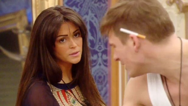 Lee Ryan and Casey Batchelor in the CBB house, 17 January 2014