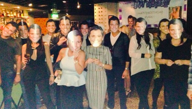 Michelle Keegan throws surprise birthday party for fiancé Mark Wright, 17 January 2014