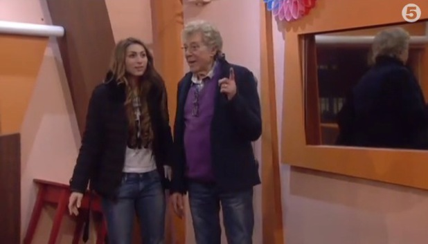 Luisa Zissman and Lionel Blair enter the 'most annoying room in the world' after being voted the most annoying housemates in Celebrity Big Brother.