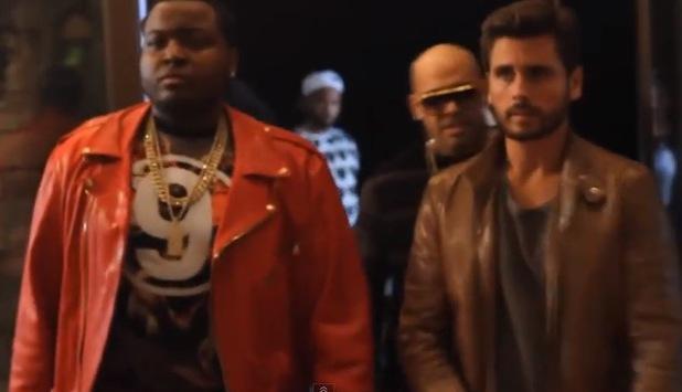 Scott Disick stars in Tyga's new music video for 'Wake Up In It' - January 2014