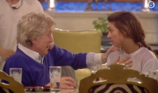 Celebrity Big Brother - Lionel Blair and Luisa Zissman make up after an explosive row (Wednesday 15 January).
