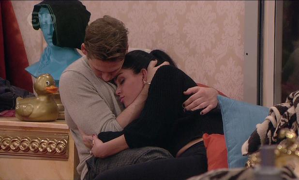 Jasmine Waltz and Lee Ryan are seen cuddling in the bathroom on 'Celebrity Big Brother', shown on ITV1 HD - 13 Jan 2014