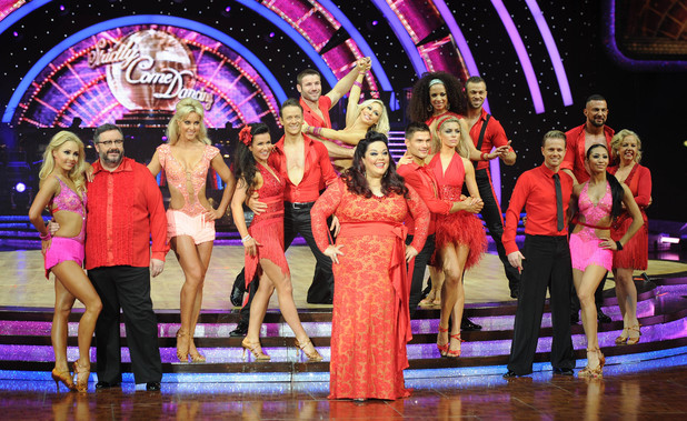 Celebrities and Professional dancers at the Strictly Come Dancing Live Tour at the NIA Arena Birmingham, UK - 16 January 2014