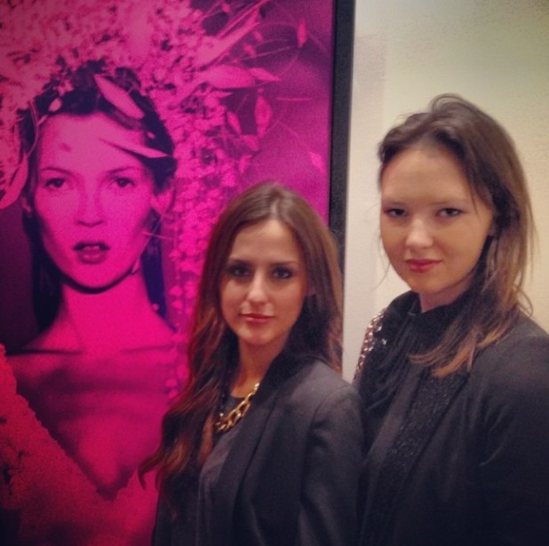 Lucy Watson in London at art gallery Imitate Modern for exhibition: a retrospective of Kate Moss by artist Russell Marshall 16.1.2013