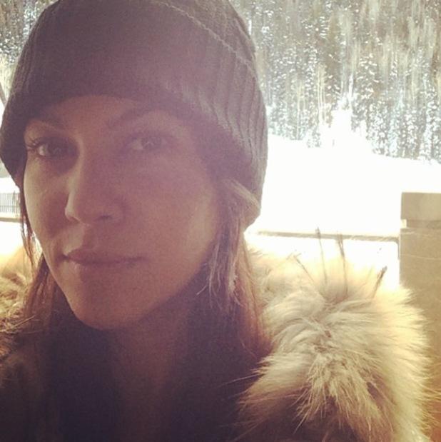 Kourtney Kardashian posts photo in the snow in Utah - 29.12.2013