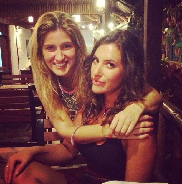 Made In Chelsea's Cheska Hull goes to Thailand, meets up with ex co-star Gabriella Ellis and has kiss from baby elephant. January 2014