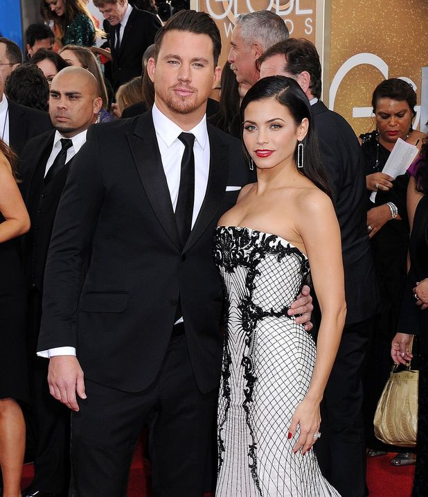 Channing Tatum and Jenna Dewan at the 71st Annual Golden Globe Awards, Arrivals, Los Angeles, America - 12 Jan 2014