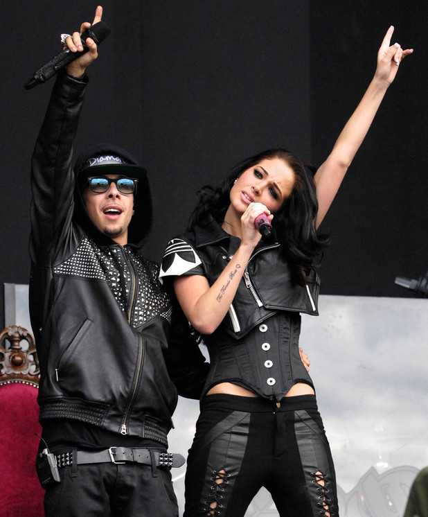 Dappy and Tulisa Contostavlos of N-Dubz T In The Park 2011 Music Festival - Day 2 Balado, Scotland - 09.07.11