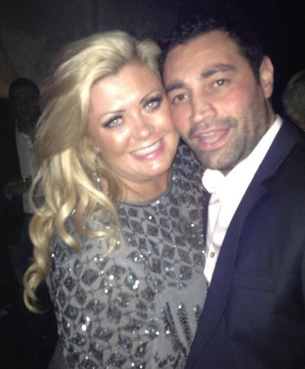 TOWIE's Gemma Collins on holiday with fiancé Rami Hawash. (12 January).