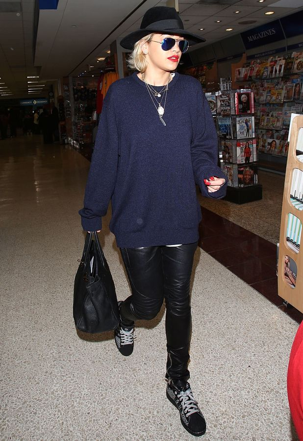 Rita Ora arrives at LAX airport in Los Angeles, 12 January 2014