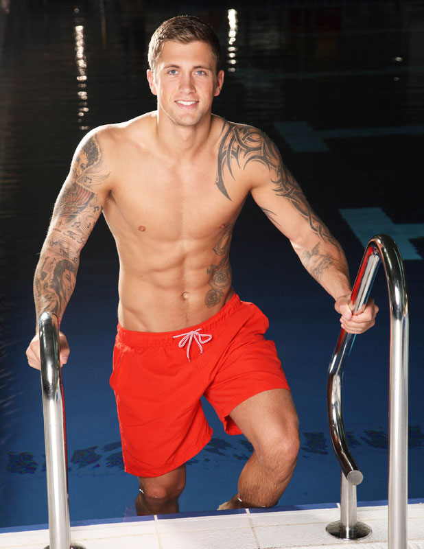 Dan Osborne, 'Splash' TV Programme, Luton, Britain. He is competing in the third heat, to air 18 January 2014