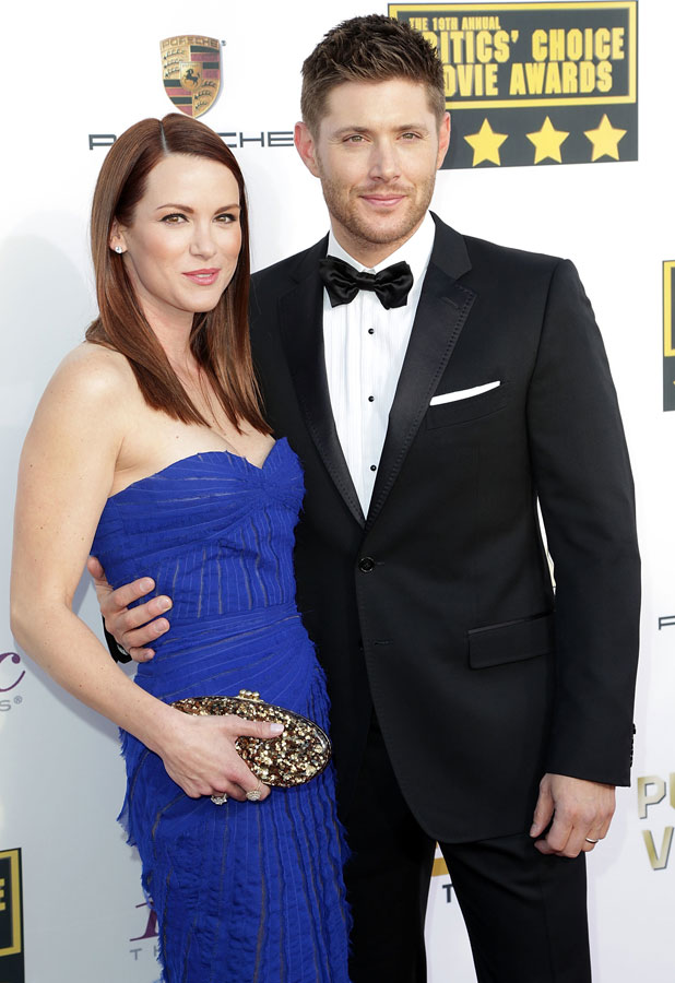 Jensen and Danneel Ackles at The 19th Annual Critics' Choice Awards at The Barker Hangar, 16 January 2014