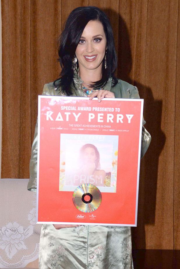 Katy Perry visits China Central Chinese Orchestra, Beijing, China - 12 Jan 2014