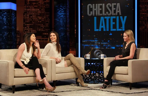 Kendall and Kylie Jenner appear on Chelsea Lately, 15 January 2014